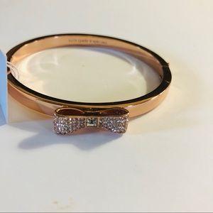 Kate Spade Ready Set Bow bracelet rose gold NWT